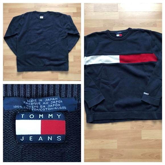 fc1b7973 Vintage Tommy Jeans Hilfiger Icon Flag sweater men.  M_5bff29785c445217be465786